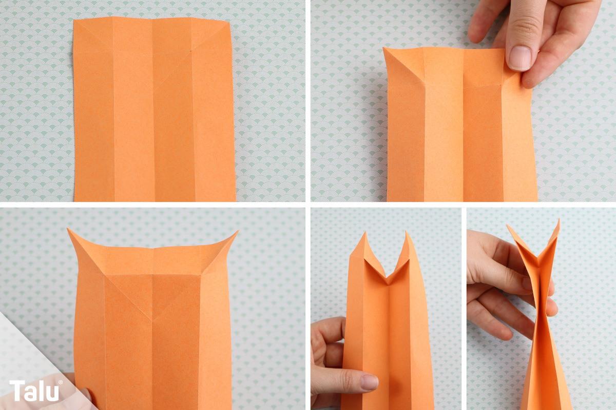 Anleitung für Origamikatze