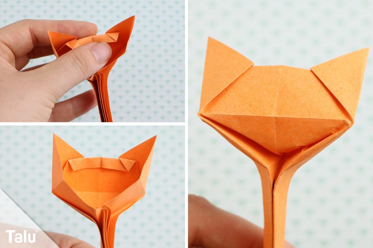 Origami Katze basteln