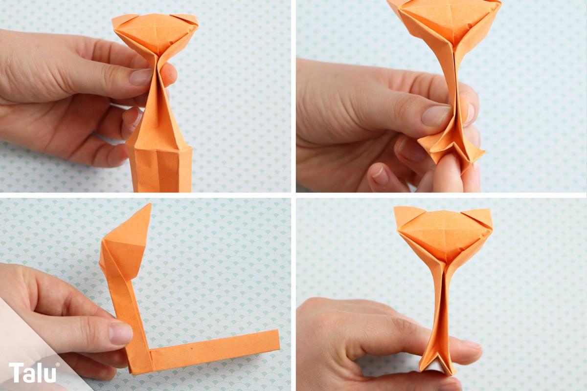 Origami-Katze basteln