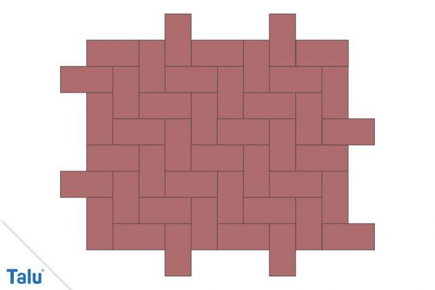 Plan für Pflastersteine
