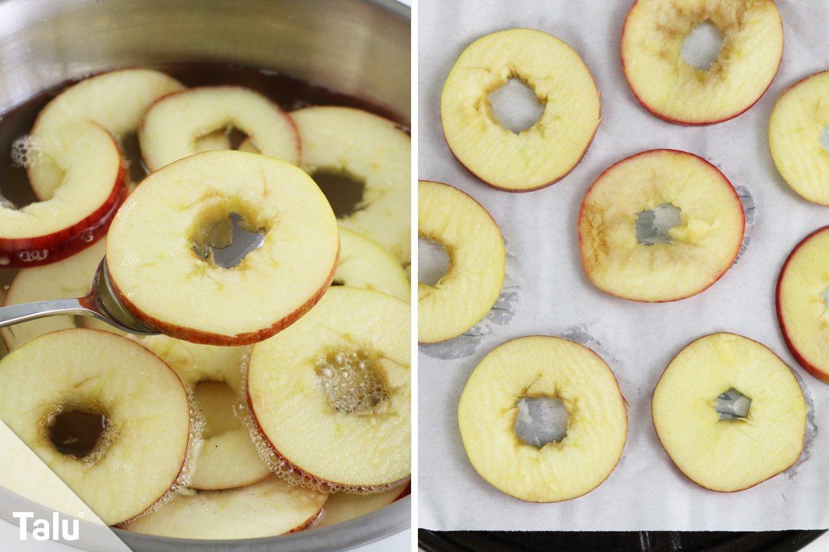 Apfelringe im Backofen trocknen