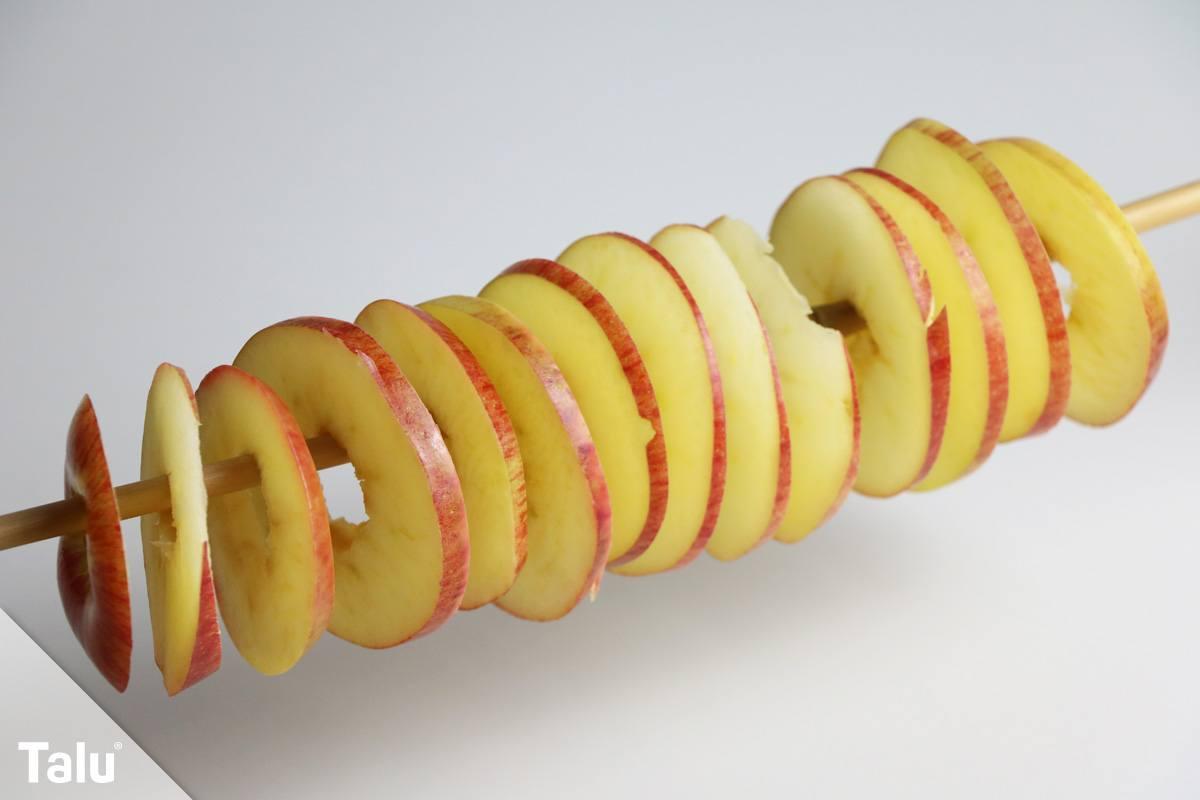 Apfelringe trocknen