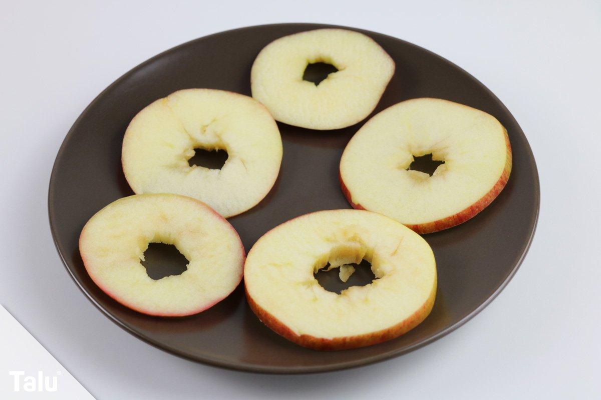 Apfelscheiben aus der Mikrowelle