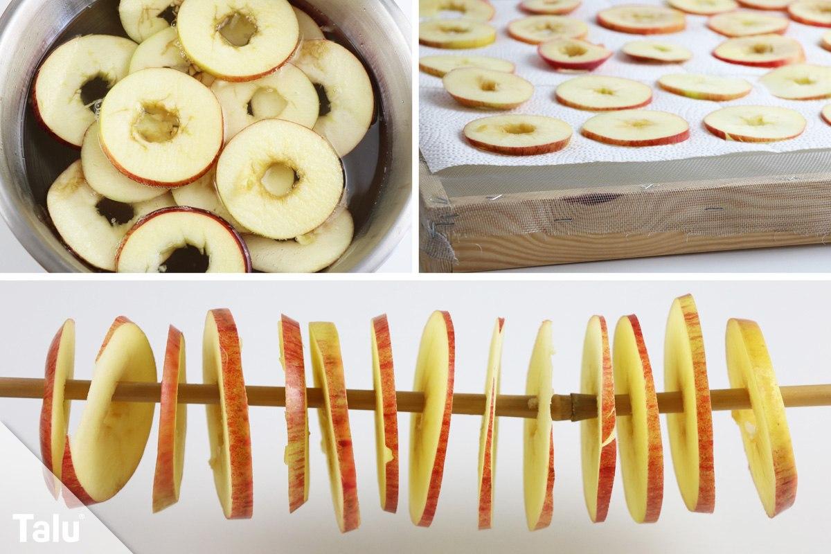 Bekannt Apfelringe selbst trocknen - so machen Sie Apfelscheiben haltbar QK75