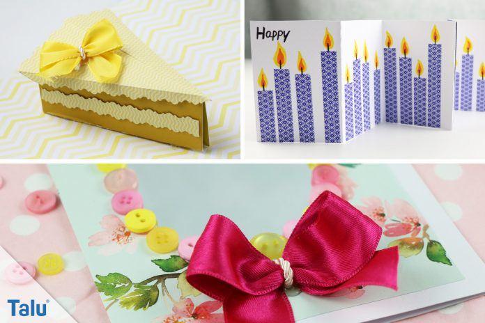 Geburtstagskarte basteln 3 kreative ideen mit anleitung - Geburtstagskarte basteln kinder ...