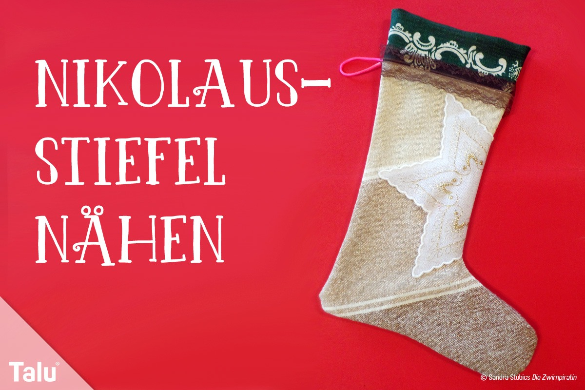 Nikolausstiefel nähen - Schnittmuster / Vorlage & kostenlose ...