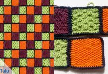 Patchworkdecke stricken