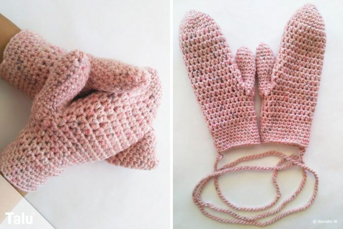 Handschuhe Häkeln Kostenlose Anleitung Für Warme Fäustlinge Talude