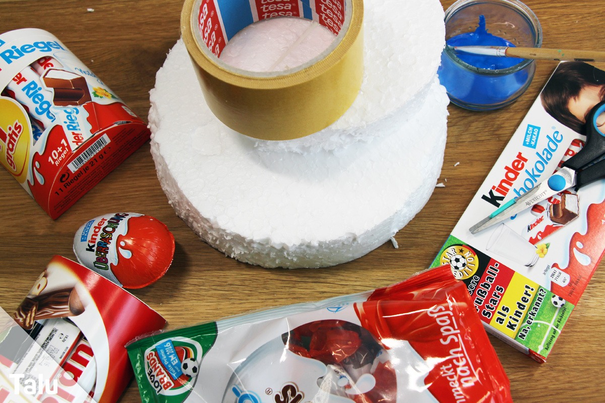 Kinderriegel-Torte basteln