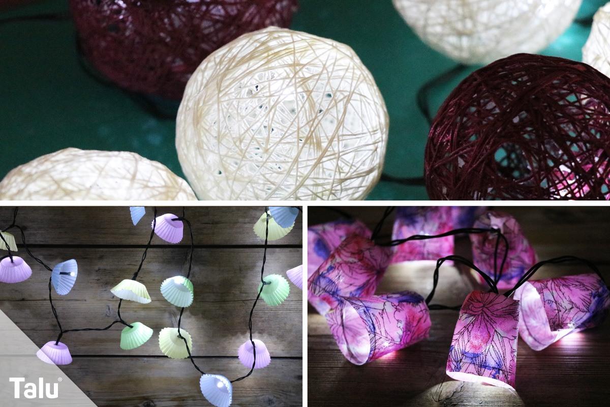 lichterkette basteln - anleitung, schablonen & ideen für