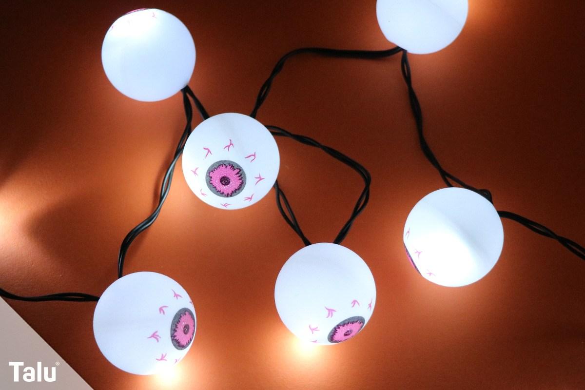 Halloween-Lichterkette basteln