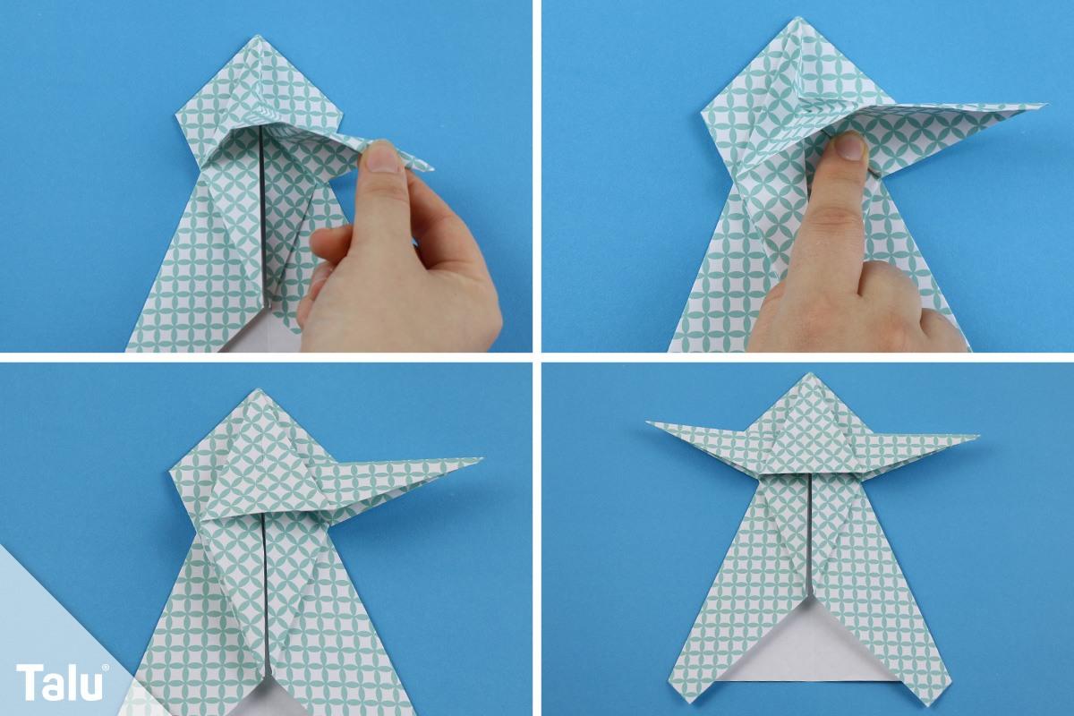 Origami-Engel aus Papier