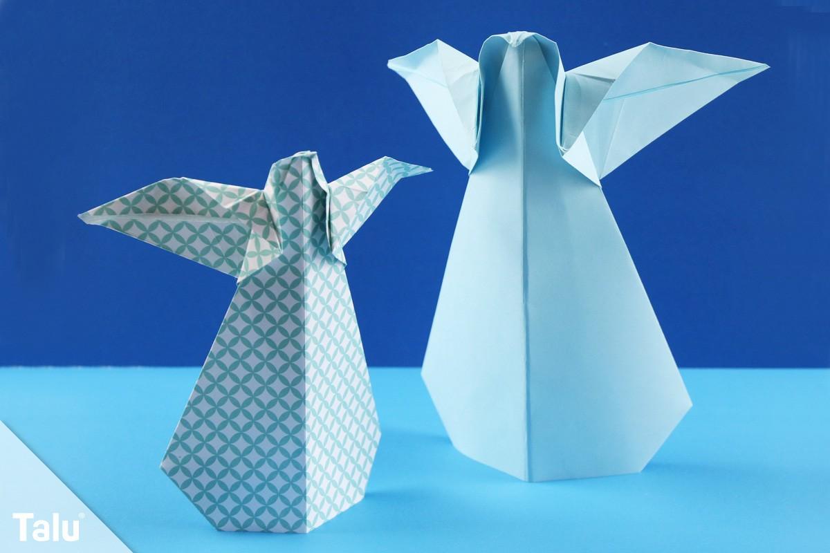 origami engel falten anleitung f r einen faltengel aus papier. Black Bedroom Furniture Sets. Home Design Ideas