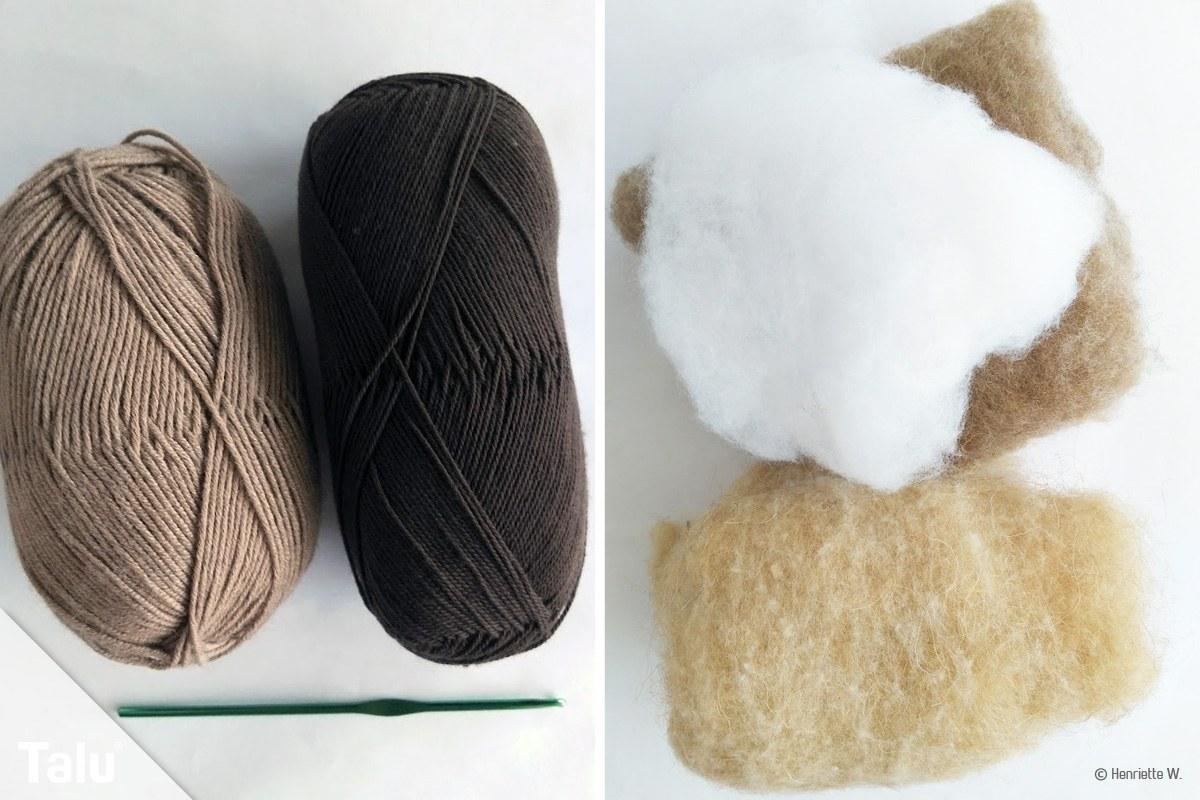 Wolle und Füllwatte