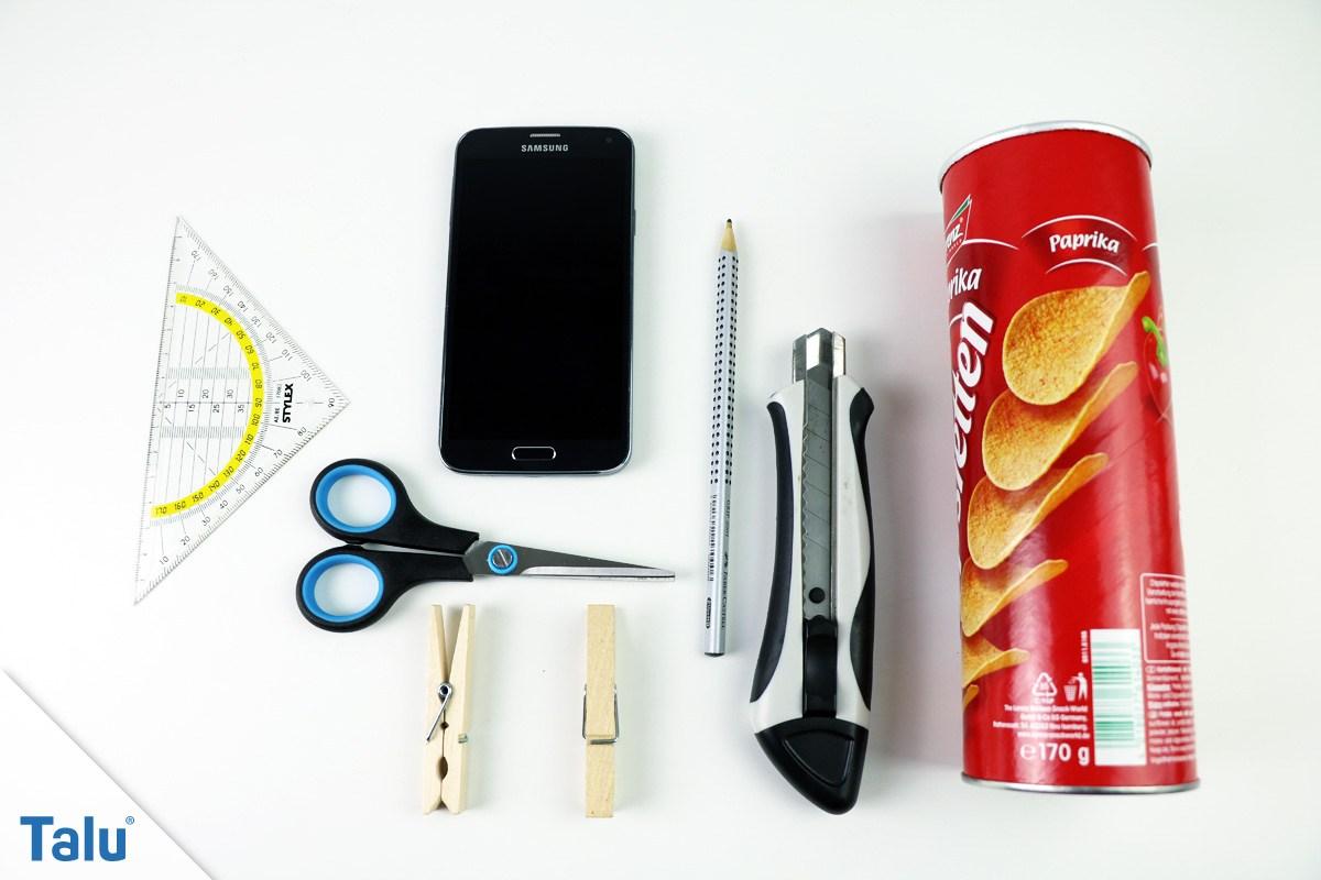 Handy Lautsprecher aus Chipsdose