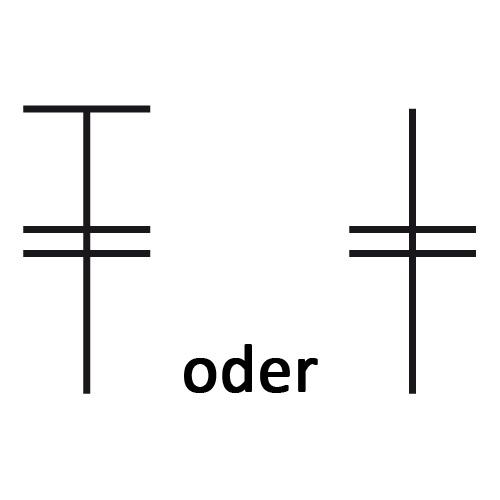 Symbol für doppeltes Stäbchen