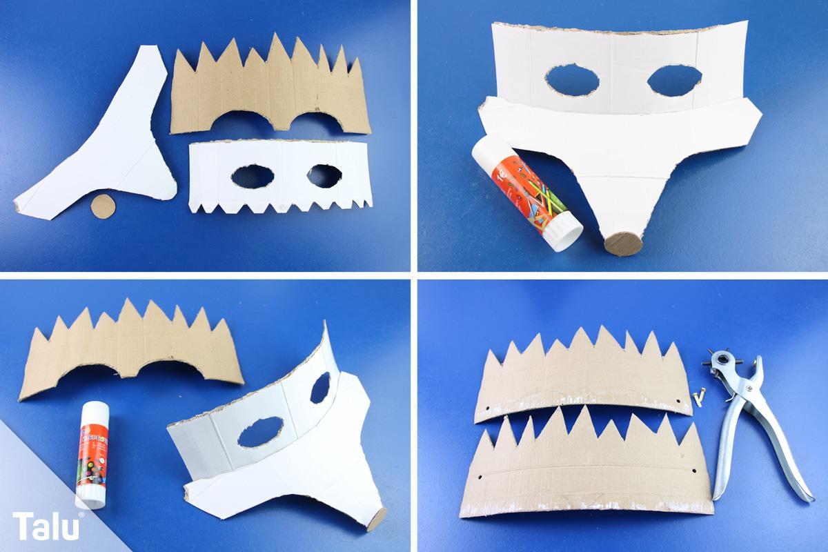 Igel Maske basteln