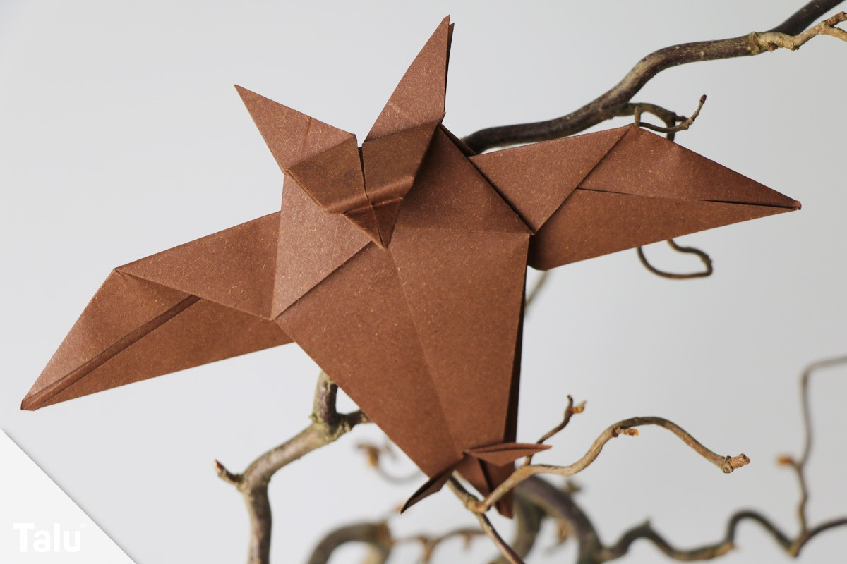 Origami Eule falten