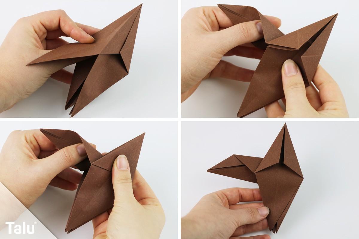 Origami-Eule basteln