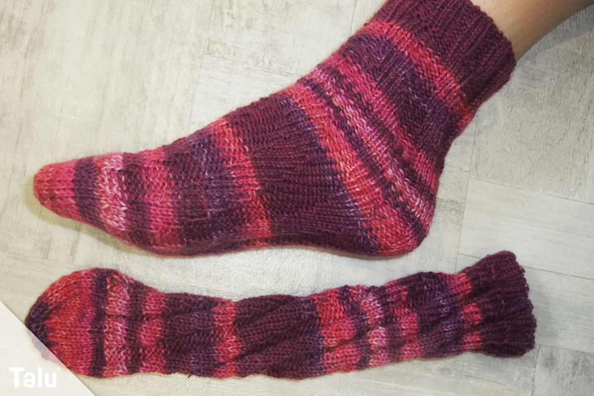 Spiralsocken stricken