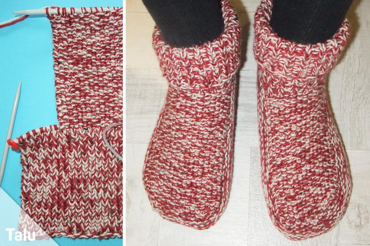 Hausschuhe Stricken Diy Anleitung Für Puschen Pantoffeln