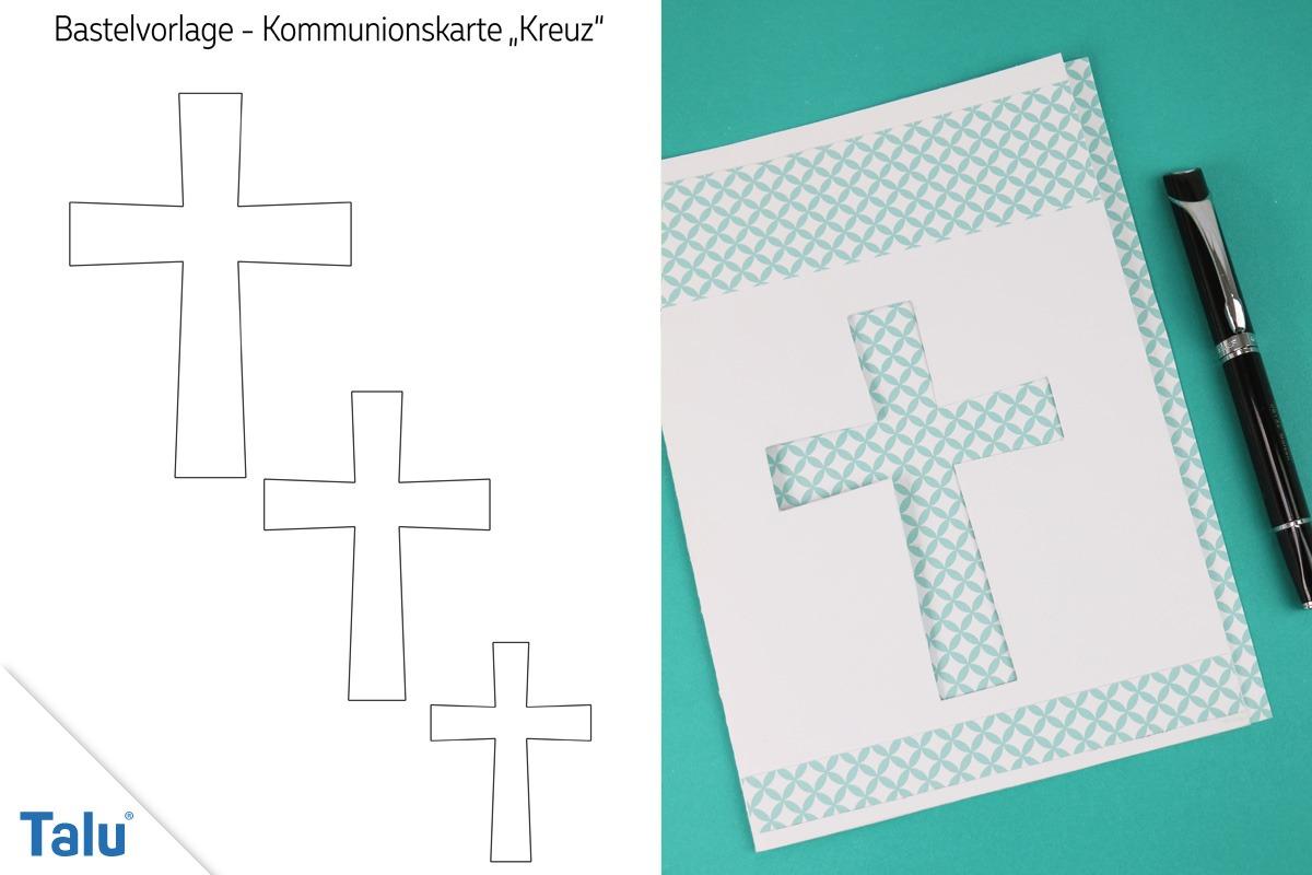 Kommunionskarten basteln