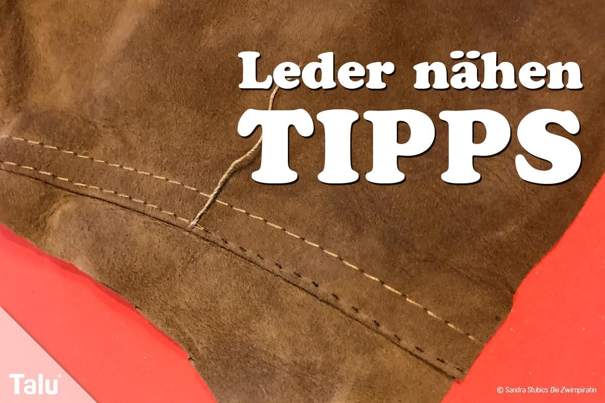 Leder Nhen Grundlagen Und Tipps Zu Garn Werkzeug Amp Co