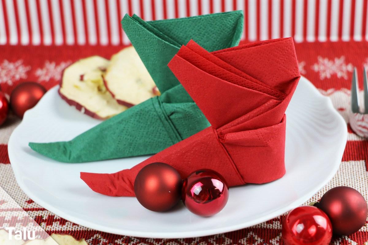 Favorit Nikolausstiefel zum Befüllen basteln - Anleitungen mit kostenlosen HJ73