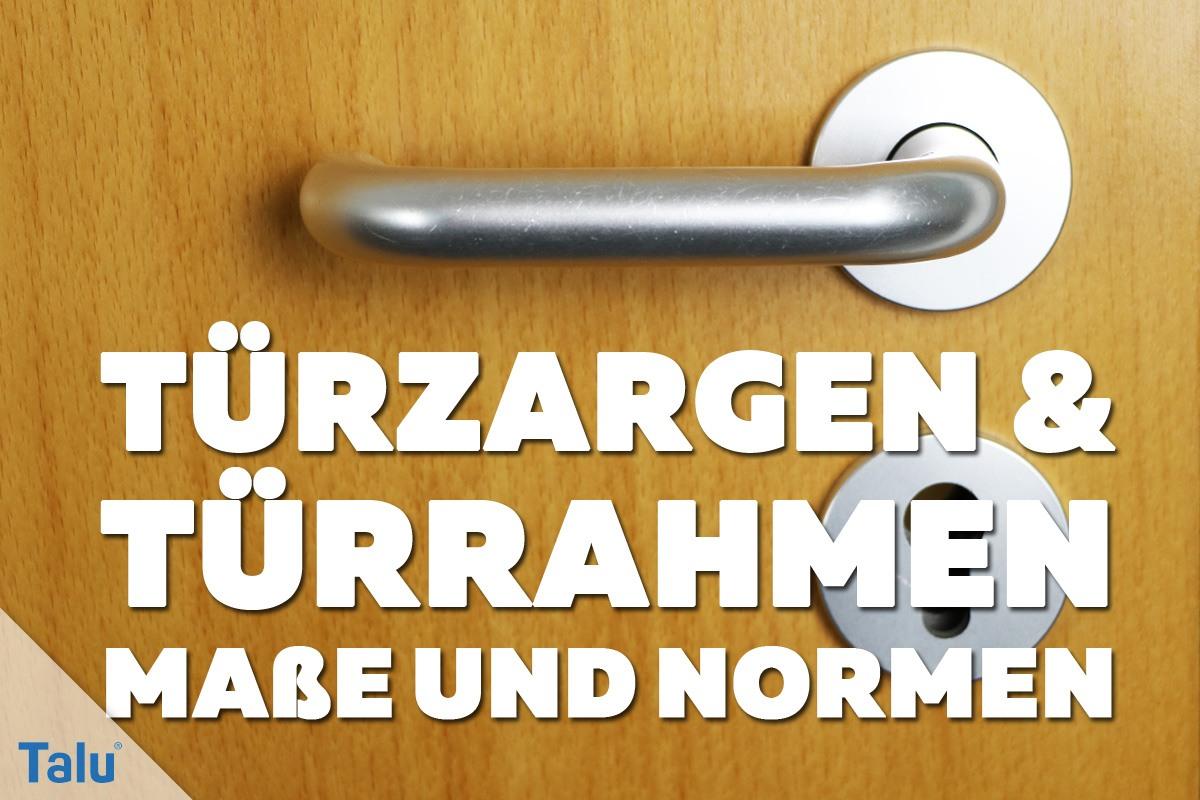 Top Türzargen/Türrahmen - Standard-Maße und Normgrößen - Talu.de FF97
