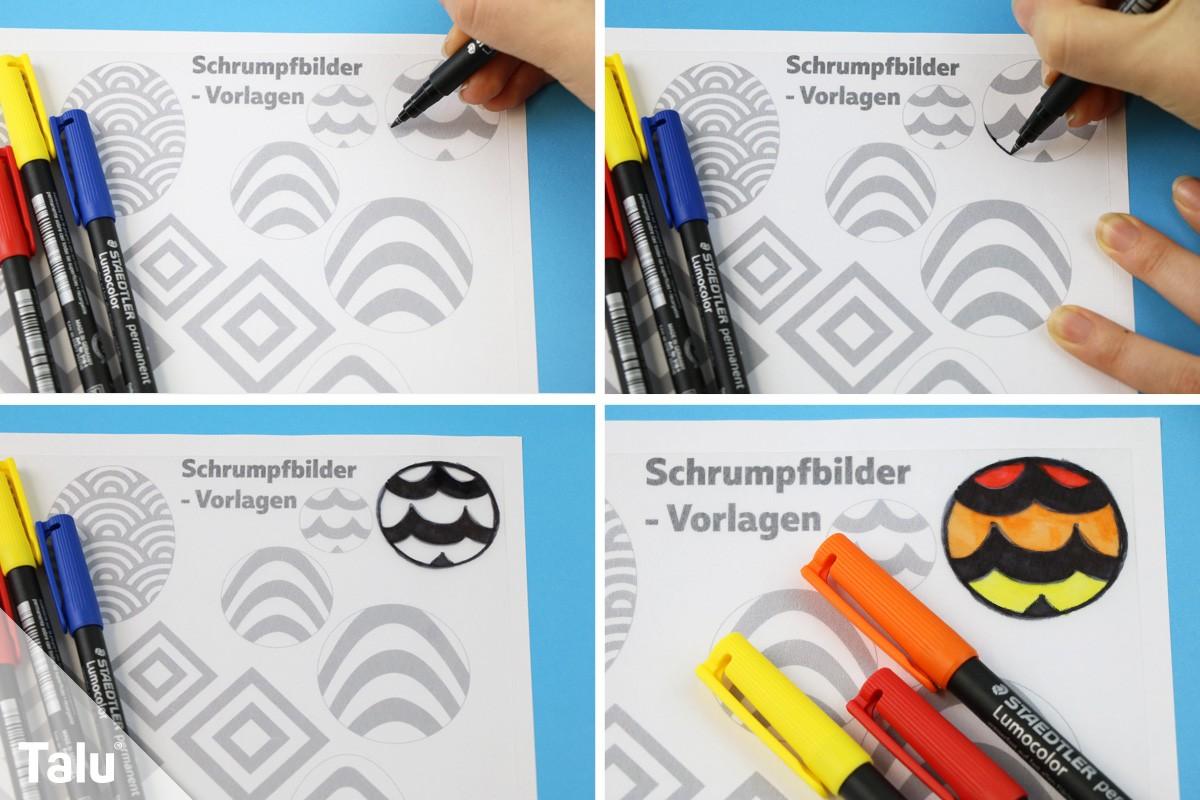 Gut gemocht Basteln mit Schrumpffolie - Anleitung, DIY-Ideen + Vorlagen - Talu.de RR97