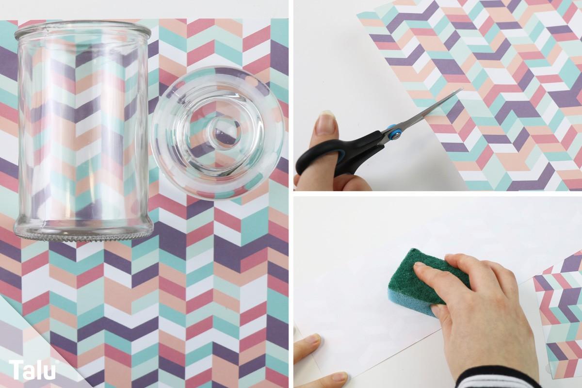Decopatch auf Glas