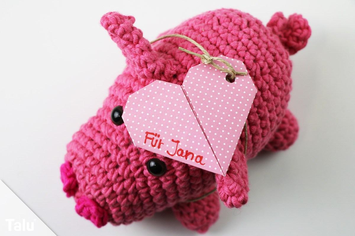 Origami-Herz als Anhänger