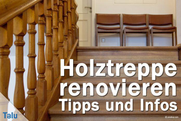Etwas Neues genug Holztreppe renovieren - DIY-Anleitung und Kosten-Beispiel - Talu.de &QF_12