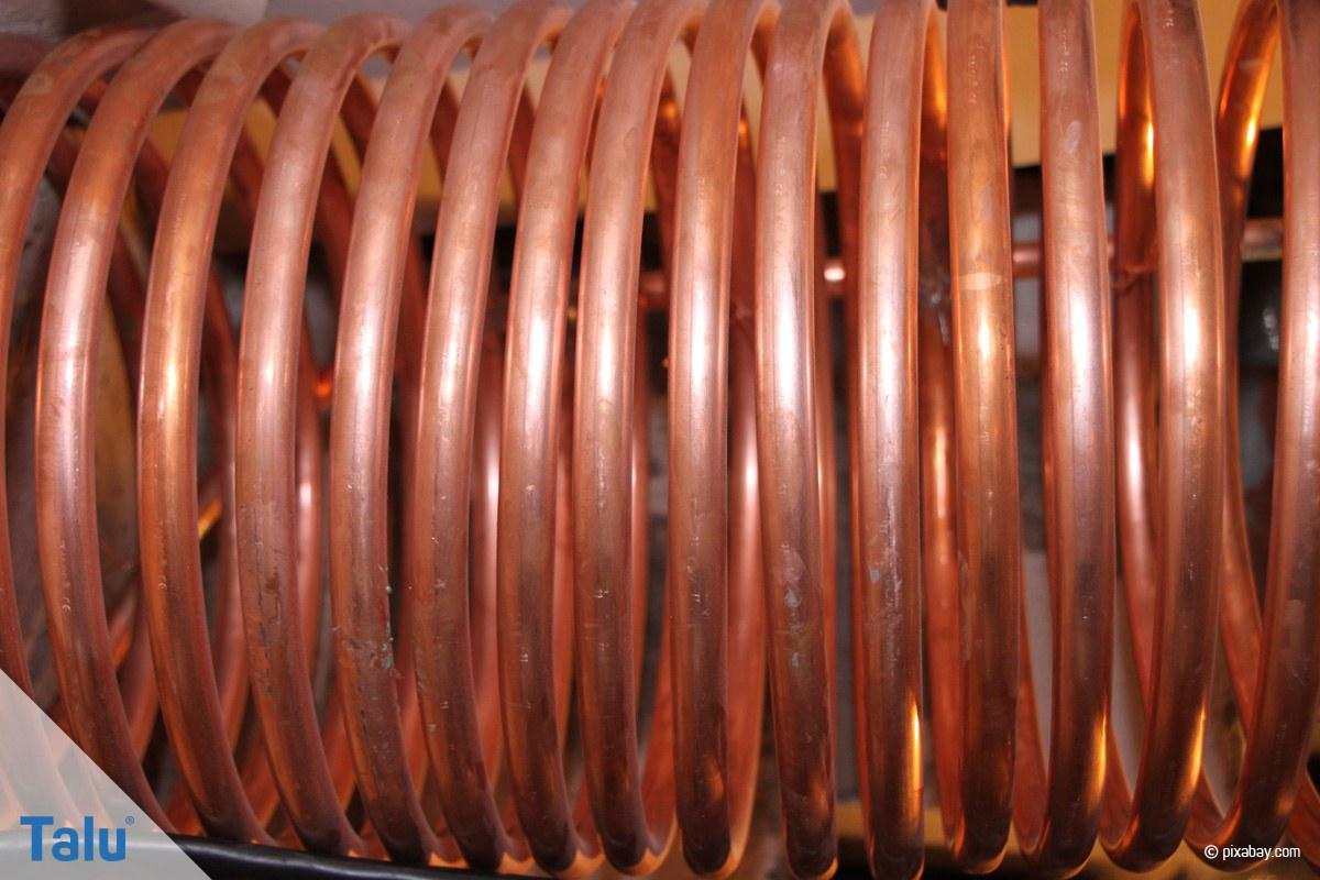 Kupferrohr Spirale gebogen