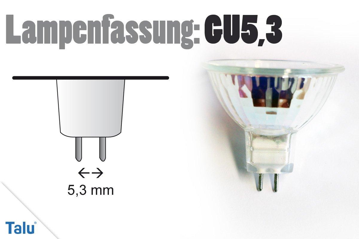 Lampenfassung GU5,3