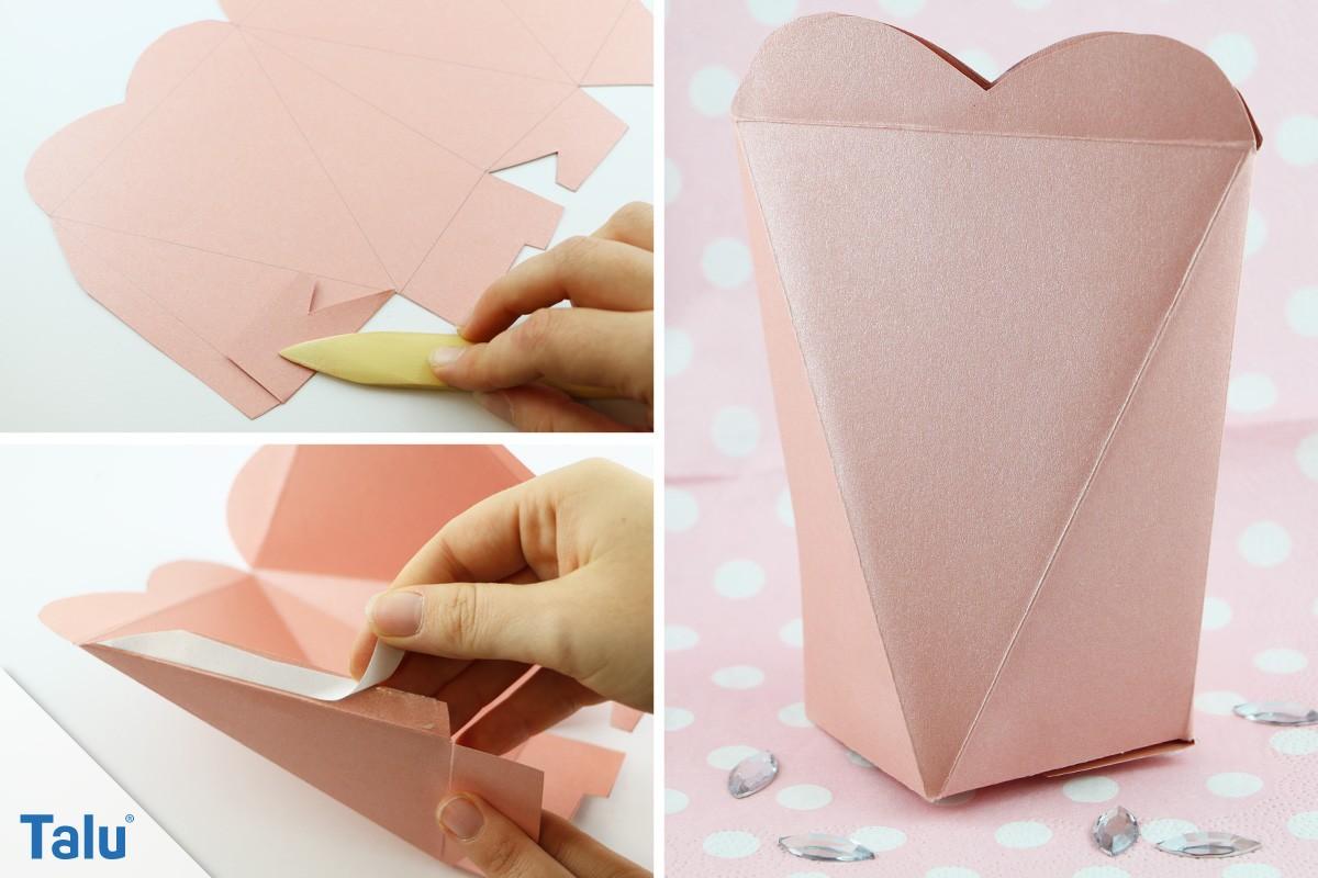 Papierschachteln falten
