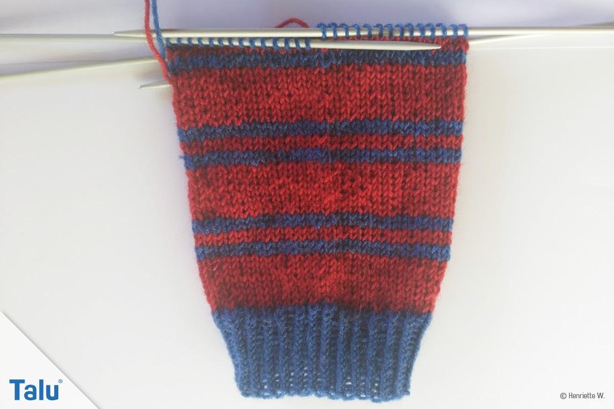 Socken mit Eulenmotiv
