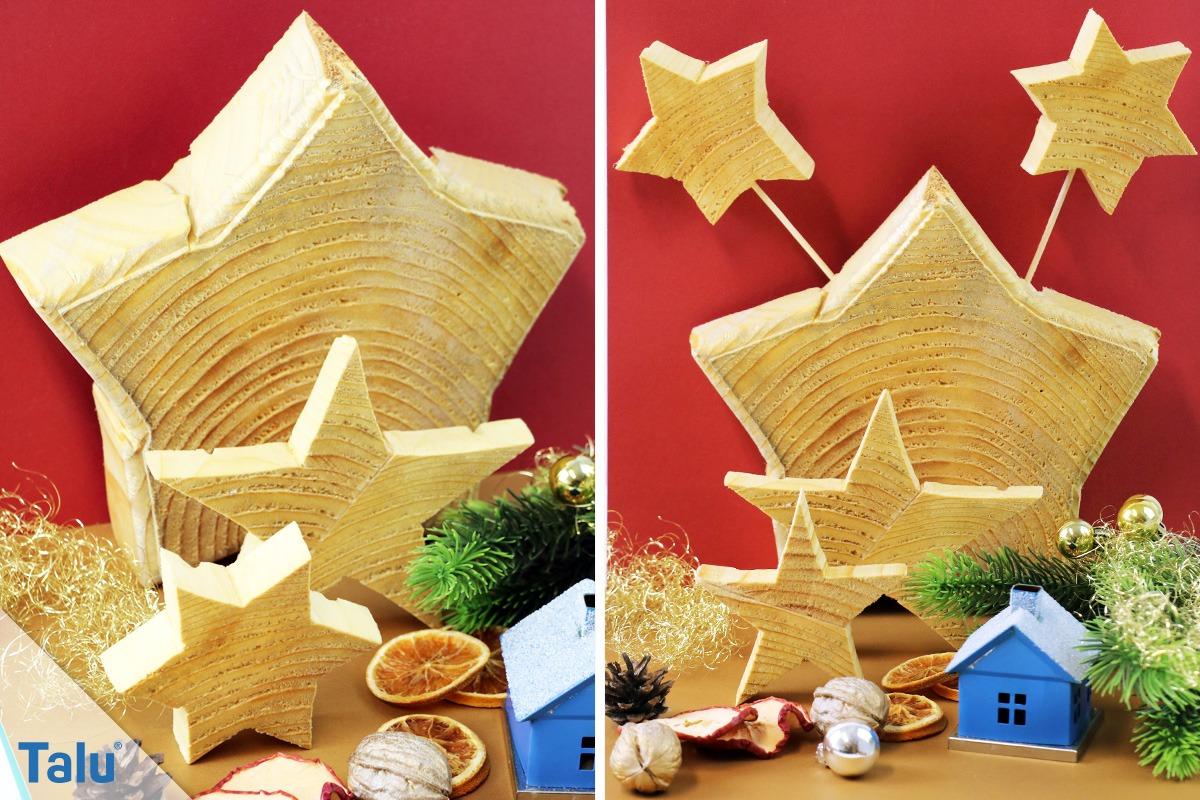 Stern aus Holz zur Dekoration