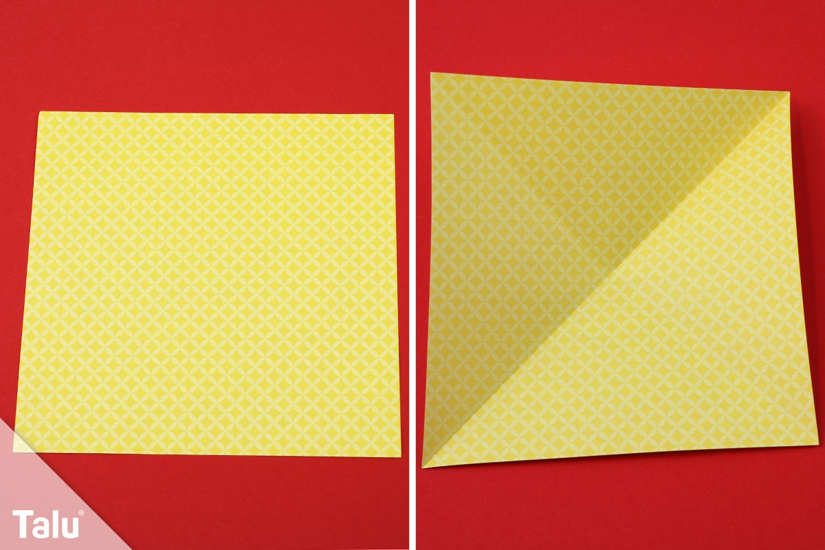 Origami-Tannenbaum basteln
