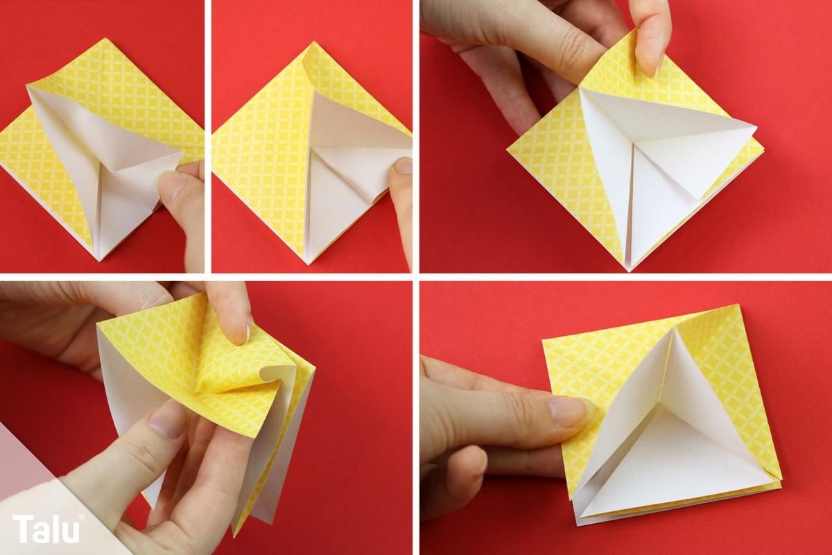 Origami-Tannenbaum falten
