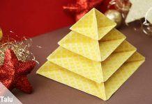 Origami Tannenbaum falten