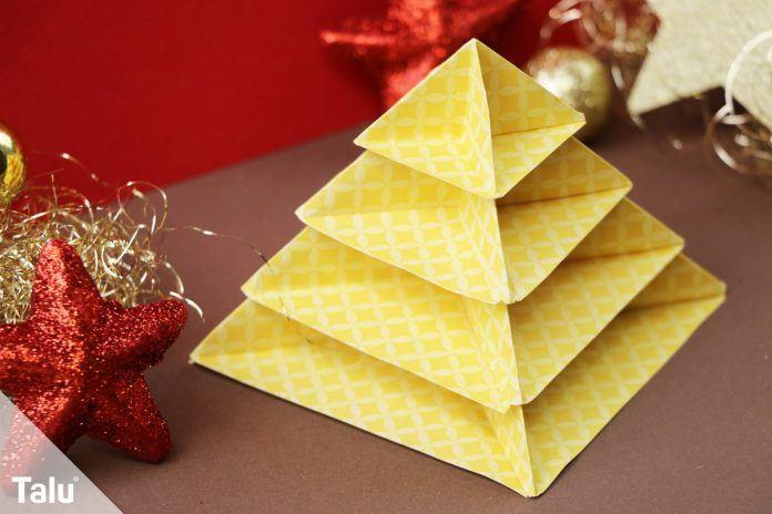 origami tannenbaum falten anleitung zum basteln mit. Black Bedroom Furniture Sets. Home Design Ideas