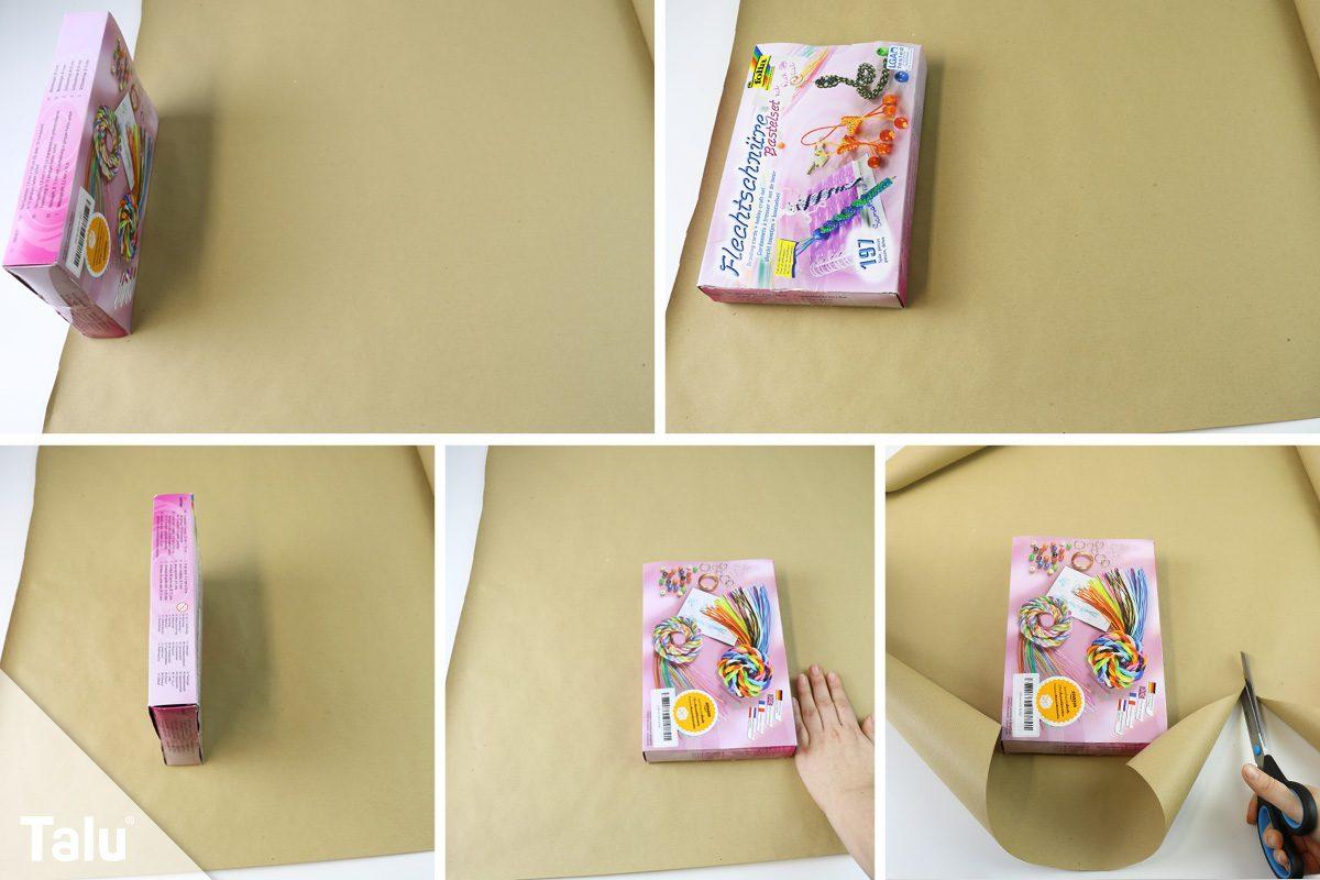 Geschenk einpacken ohne Klebeband