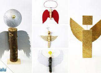 Engel aus Holz basteln