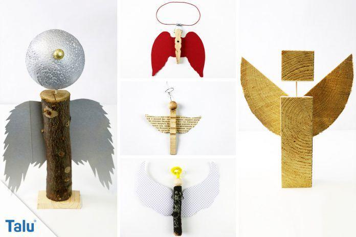 Engel aus holz basteln diy holzengel mit vorlage - Engel basteln aus naturmaterialien ...