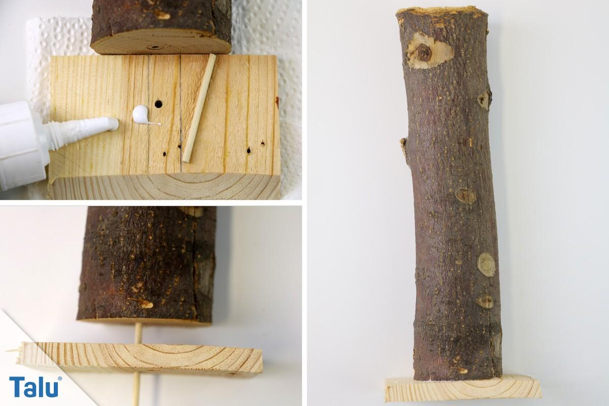 Holzengel stabiler Fuß