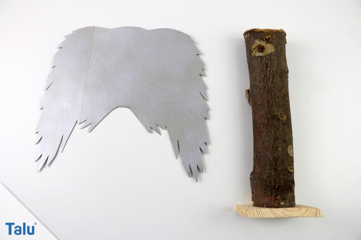 Engelflügel silber sprühen