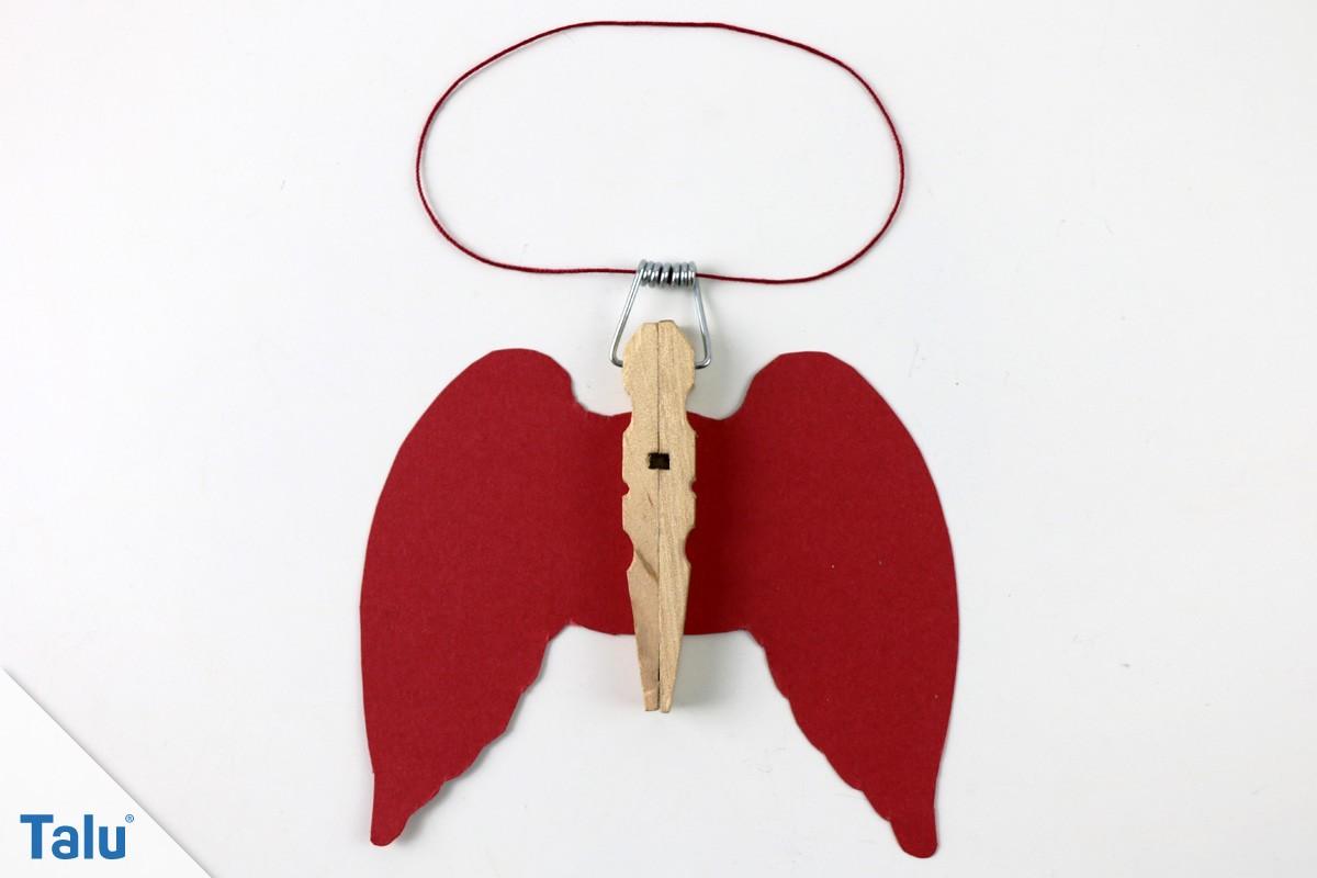 Engel aus Holz-Wäscheklammer