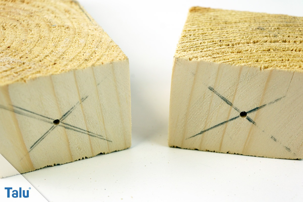 Holz markieren und bohren