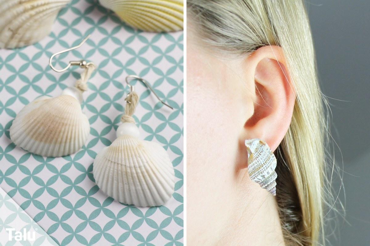 Ohrringe mit Muscheln